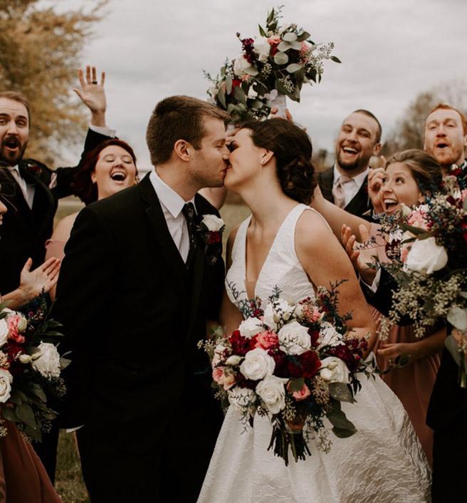 Wedding photo with Client of Katie Stegeman