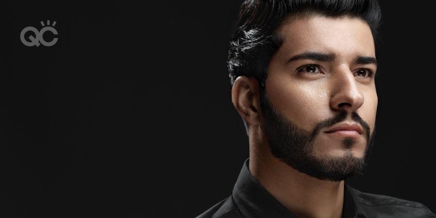 Makeup portfolio male model shoot