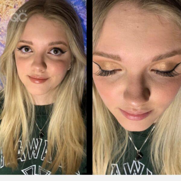 QC Makeup Academy reviews article, Hayley Siebe portfolio image 1