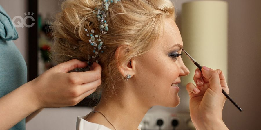 Makeup academy article, Aug 19 2021, in-post image 4, bridal makeup application